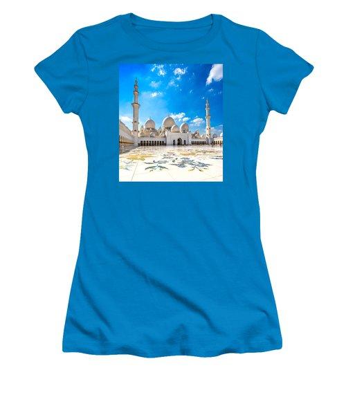 Sheikh Zayed Mosque - Abu Dhabi - Uae Women's T-Shirt (Junior Cut) by Luciano Mortula