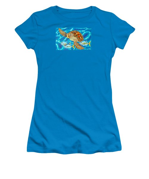 Green Sea Turtle Women's T-Shirt (Athletic Fit)