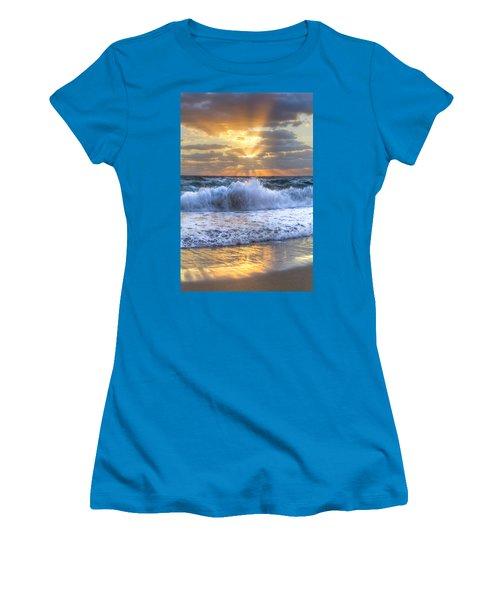 Splash Sunrise Women's T-Shirt (Athletic Fit)
