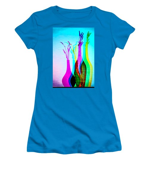 4 Vases In Colored Light Silhouettes Women's T-Shirt (Athletic Fit)