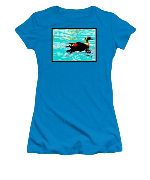 A Duck Is A Duck In A Pond Women's T-Shirt (Athletic Fit)