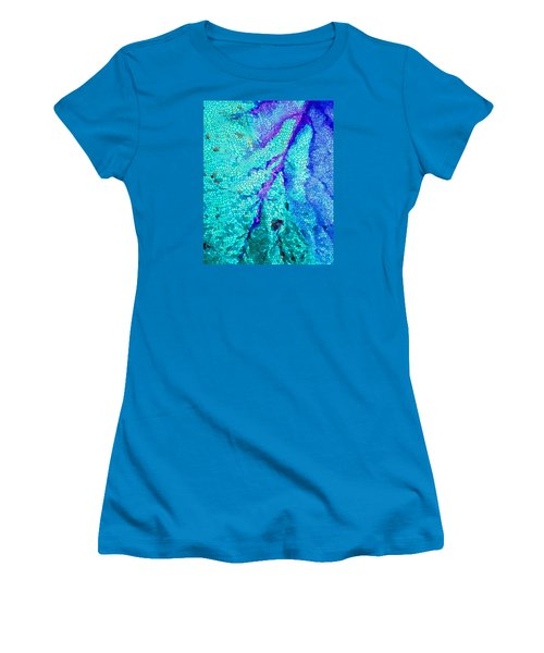 A River Runs Through It Women's T-Shirt (Junior Cut) by Mariarosa Rockefeller