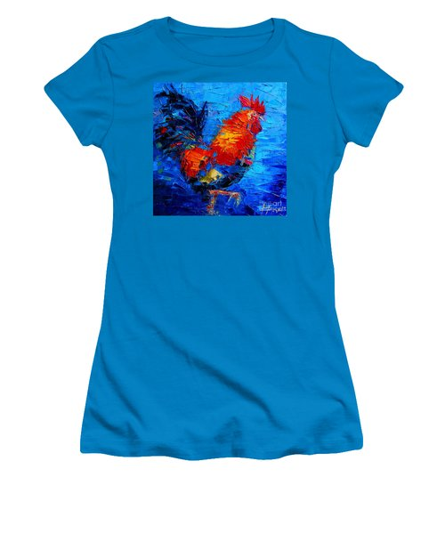 Abstract Colorful Gallic Rooster Women's T-Shirt (Athletic Fit)