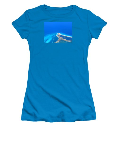 Women's T-Shirt (Junior Cut) featuring the photograph Aerial View Of Cancun by Patti Whitten