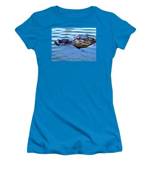 Alligator With Spider Women's T-Shirt (Athletic Fit)