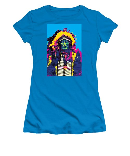 American Indian Chief Women's T-Shirt (Athletic Fit)