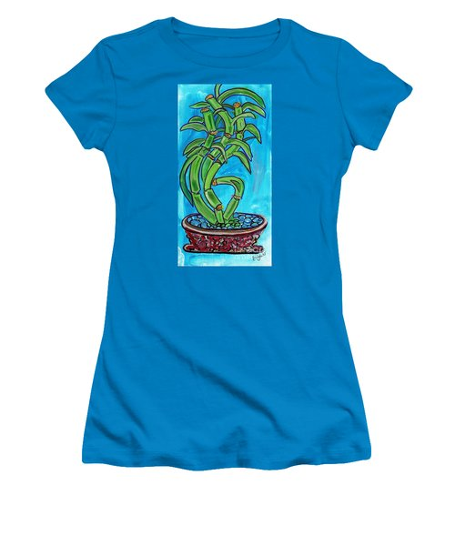 Bamboo Twist Women's T-Shirt (Junior Cut) by Ecinja Art Works
