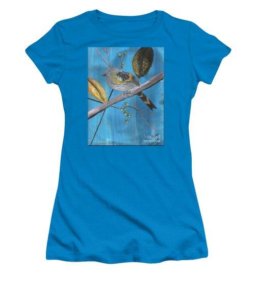 Bird On A Branch  Women's T-Shirt (Junior Cut) by Francine Heykoop