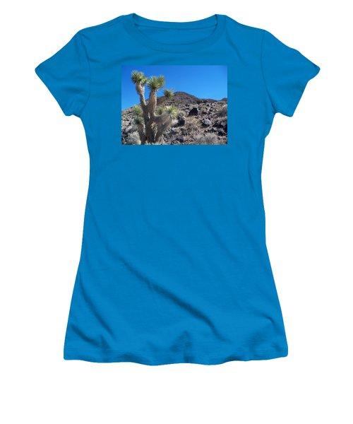 Women's T-Shirt (Junior Cut) featuring the photograph Black Mountain Yucca by Alan Socolik