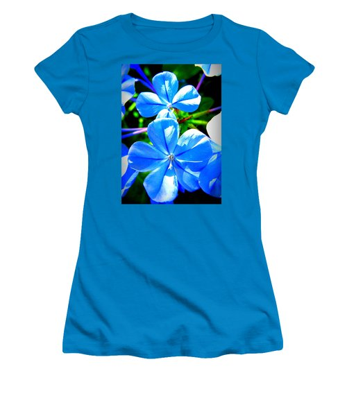 Women's T-Shirt (Junior Cut) featuring the photograph Blue Flower by David Mckinney