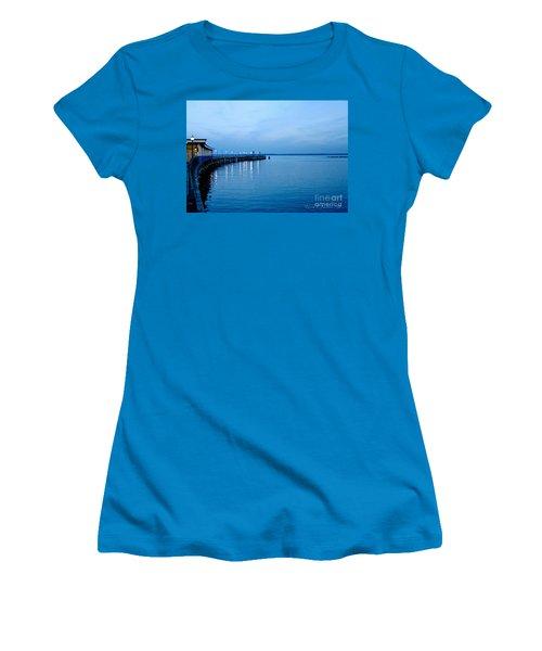 Blue Light Horizon Women's T-Shirt (Junior Cut) by Carol F Austin
