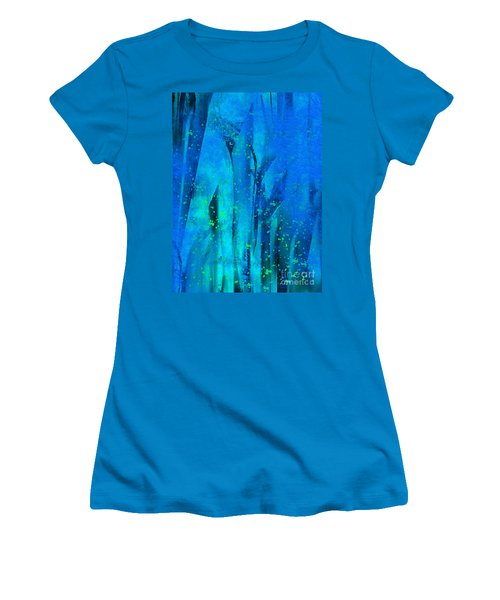 Feeling Blue Women's T-Shirt (Junior Cut) by Yul Olaivar