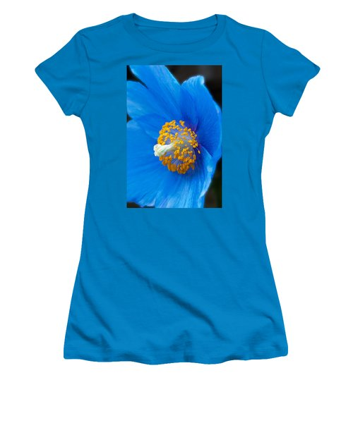 Blue Poppy Women's T-Shirt (Athletic Fit)