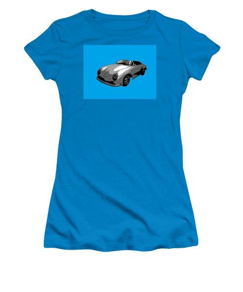 Blue Speedster Women's T-Shirt (Junior Cut) by J Anthony