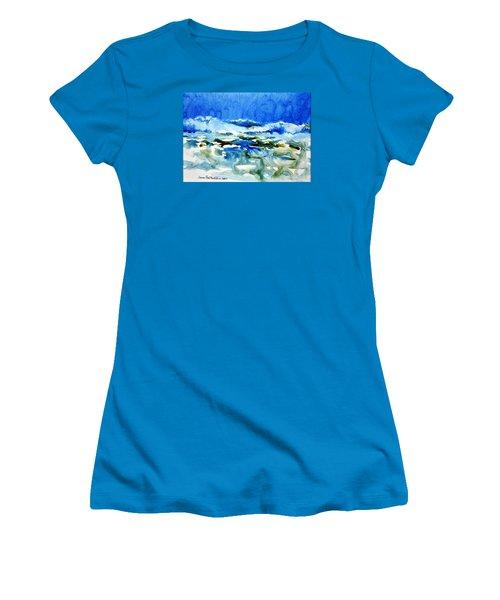 Blue Surf Women's T-Shirt (Junior Cut) by Joan Hartenstein