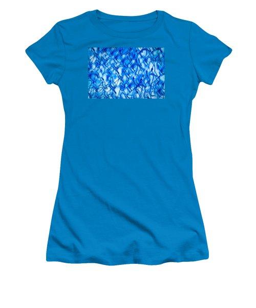 Blue Wispy Women's T-Shirt (Junior Cut) by Don Gradner