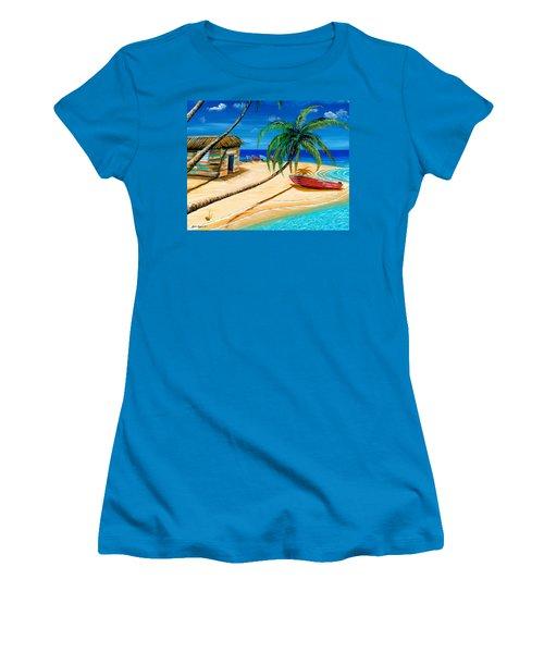 Boat Rent Women's T-Shirt (Junior Cut) by Steve Ozment