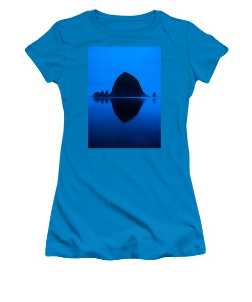 Cannon Beach Blue Women's T-Shirt (Athletic Fit)