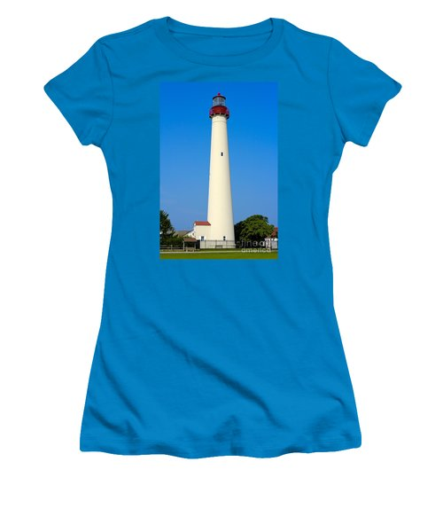 Cape May Lighthouse Women's T-Shirt (Junior Cut) by Anthony Sacco