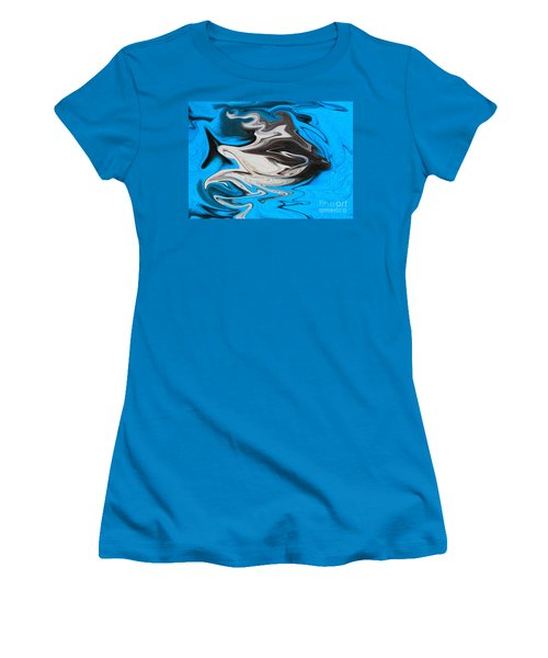 Abstract Cat Fish Women's T-Shirt (Junior Cut) by Linsey Williams