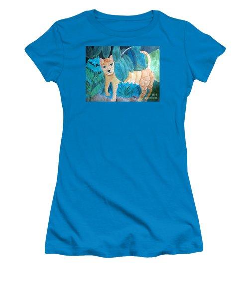 CAT Women's T-Shirt (Junior Cut) by Sandy McIntire