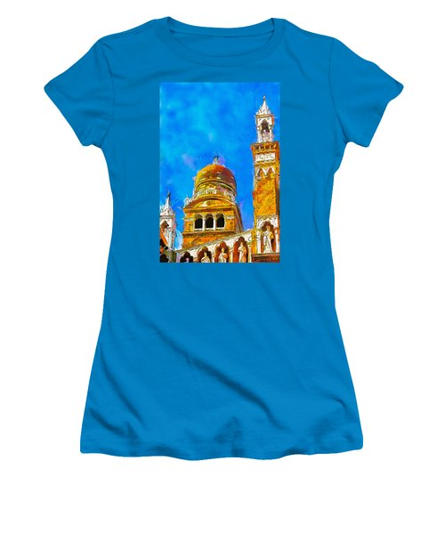 Women's T-Shirt (Junior Cut) featuring the painting Church Of Madonna Dell'orto by Greg Collins