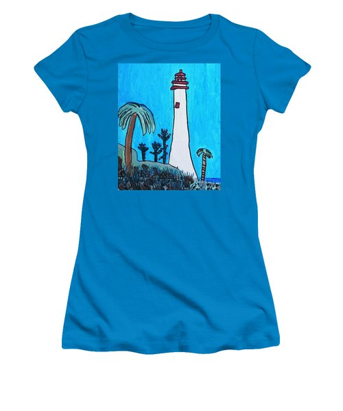 Coastal Lighthouse Women's T-Shirt (Junior Cut) by Artists With Autism Inc