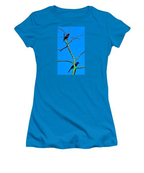Colorful Duet Women's T-Shirt (Junior Cut) by Zafer Gurel