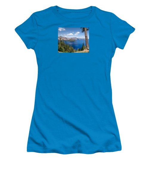 Crater Lake National Park Women's T-Shirt (Junior Cut) by Diane Schuster