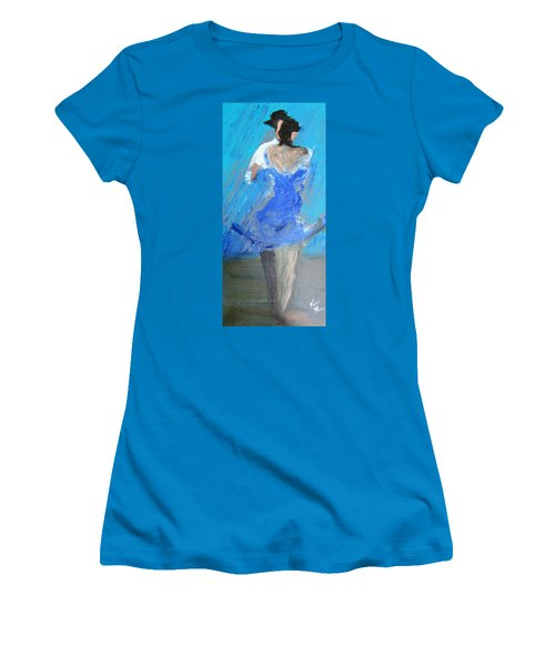 Women's T-Shirt (Junior Cut) featuring the painting Dance In The Rain by Keith Thue