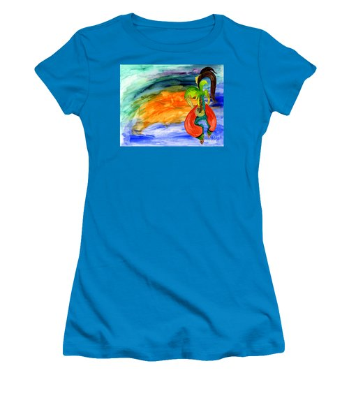 Dancing Tree Of Life Women's T-Shirt (Junior Cut) by Mukta Gupta