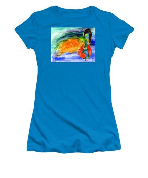 Women's T-Shirt (Junior Cut) featuring the painting Dancing Tree Of Life by Mukta Gupta
