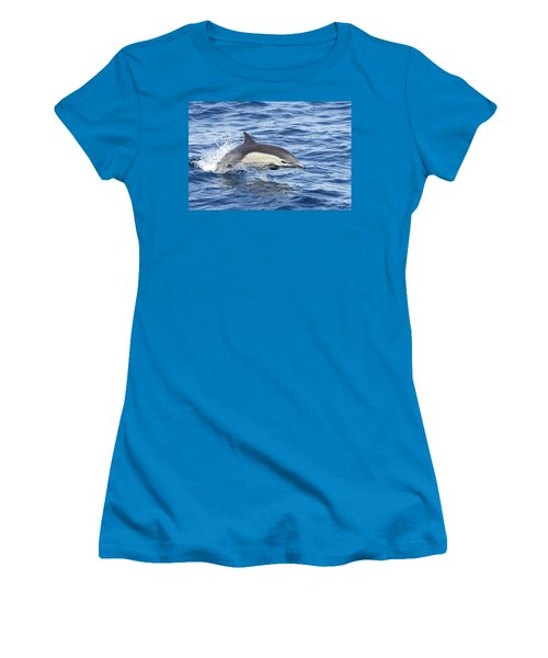 Dolphin At Play Women's T-Shirt (Junior Cut) by Shoal Hollingsworth