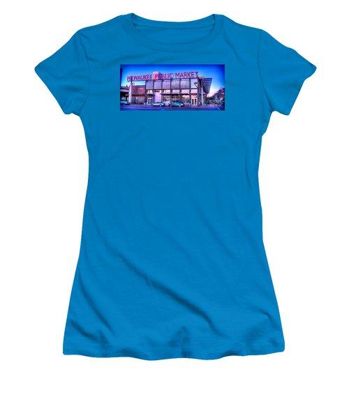Evening Milwaukee Public Market Women's T-Shirt (Athletic Fit)