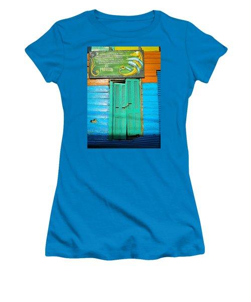 Fachada De Conventillo Women's T-Shirt (Junior Cut) by Silvia Bruno