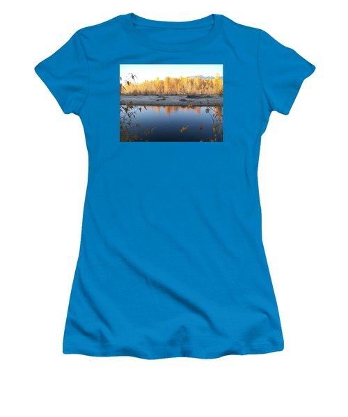 Women's T-Shirt (Junior Cut) featuring the photograph Fall Reflection 2 by Jewel Hengen