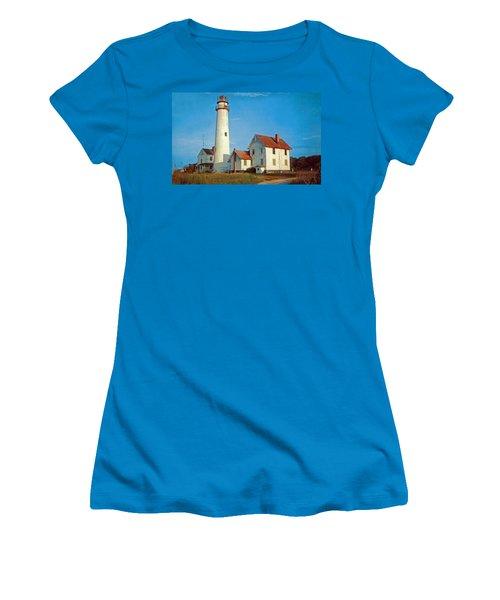 Fenwick Island Lighthouse 1950 Women's T-Shirt (Junior Cut) by Skip Willits