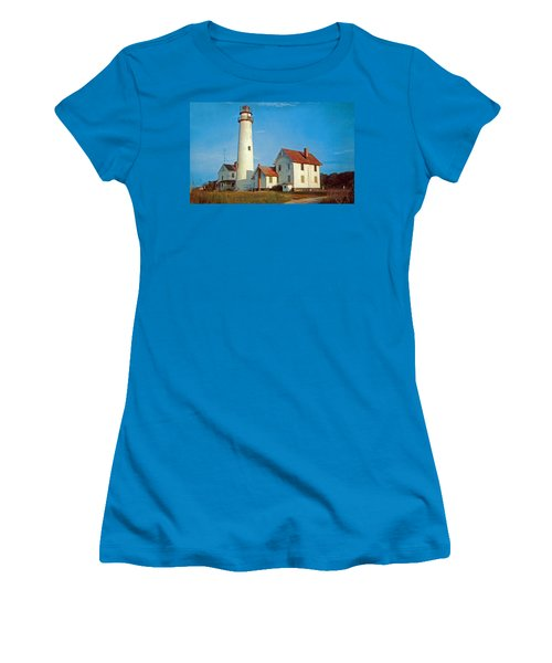 Fenwick Island Lighthouse 1950 Women's T-Shirt (Athletic Fit)