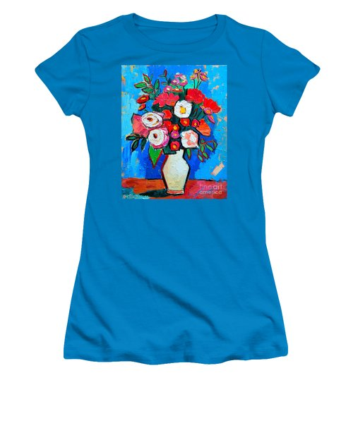Flowers And Colors Women's T-Shirt (Junior Cut) by Ana Maria Edulescu