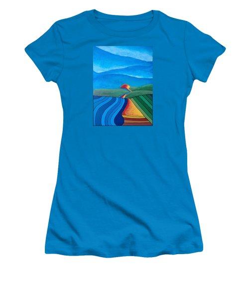 Fountain Inn Women's T-Shirt (Junior Cut) by Steve  Hester