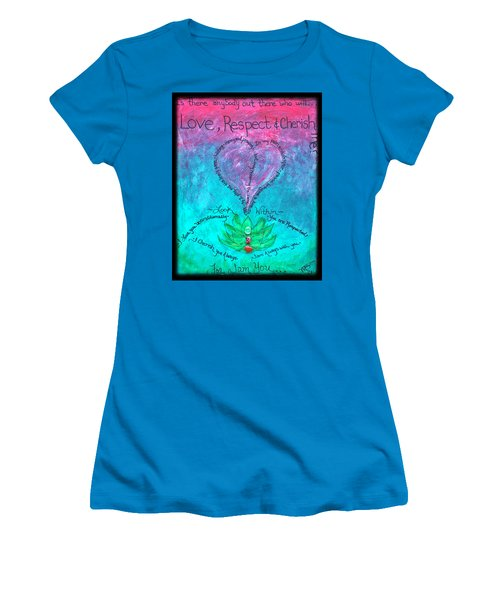 Healing Art - Love Respect And Cherish Me? Women's T-Shirt (Athletic Fit)