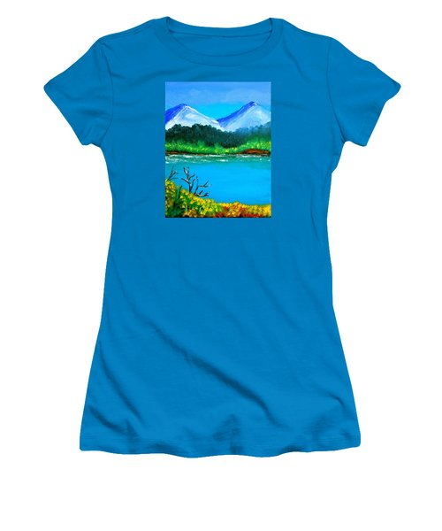 Hills By The Lake Women's T-Shirt (Athletic Fit)