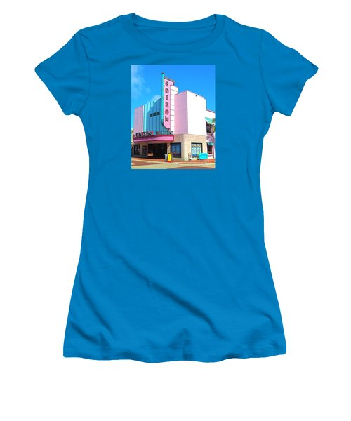 Deco Historic Edison Theater. Ft. Myers. Florida. Women's T-Shirt (Athletic Fit)