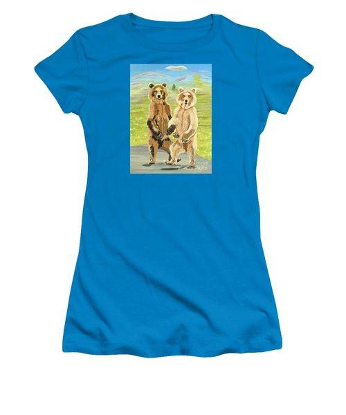 Hoedown On The Tundra Women's T-Shirt (Junior Cut) by Phyllis Kaltenbach