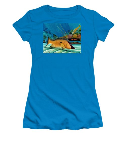 Hog And Filefish Women's T-Shirt (Junior Cut) by Steve Ozment