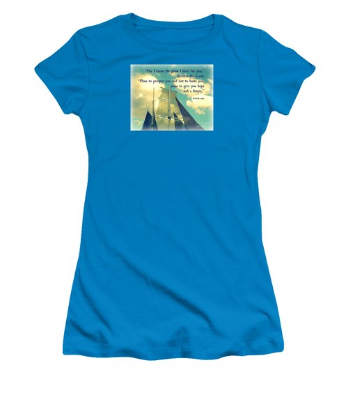 Hope And A Future Women's T-Shirt (Junior Cut) by Valerie Reeves