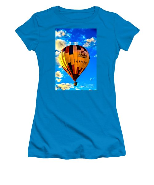 Hot Air Ballon Farmer's Insurance Women's T-Shirt (Athletic Fit)