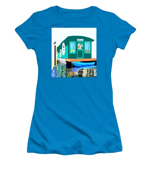 Houseboat Women's T-Shirt (Junior Cut) by Marian Cates