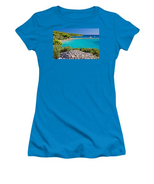 Island Murter Turquoise Lagoon Beach Women's T-Shirt (Athletic Fit)