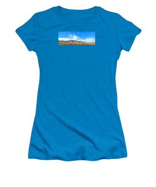 Women's T-Shirt (Junior Cut) featuring the photograph It Snowed Last Night by Marilyn Diaz